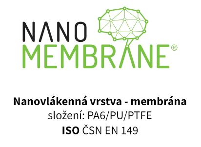 Certifikát nano membrane (r) ISO CSN EN 149